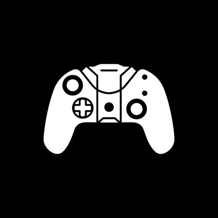 Remote control icon. Silhouette Remote control vector icon for web design isolated on black background