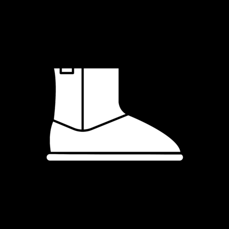 High boot icon. Silhouette High boot vector icon for web design isolated on black background