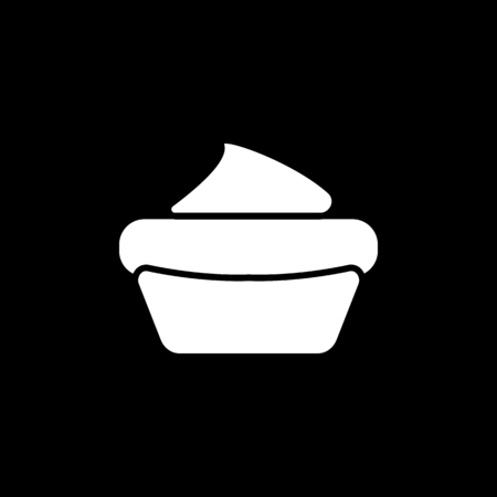 Cake icon. Silhouette Cake vector icon for web design isolated on black background