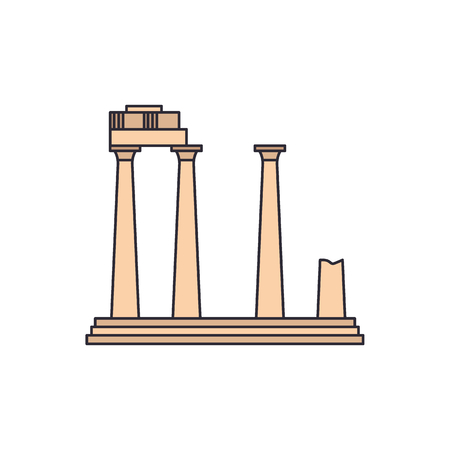 Old temple icon. Cartoon illustration of Old Athena temple vector icon for web and advertising Archivio Fotografico - 104600239