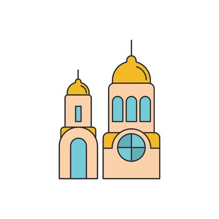 Santorini church icon. Cartoon illustration of Santorini church vector icon for web and advertising