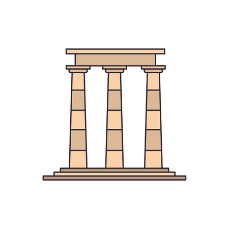 Temple ruins icon. Cartoon illustration of Temple ruins vector icon for web and advertising