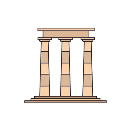 Tempel ruiniert Ikone. Karikaturillustration der Tempelruinenvektorikone für Web und Werbung
