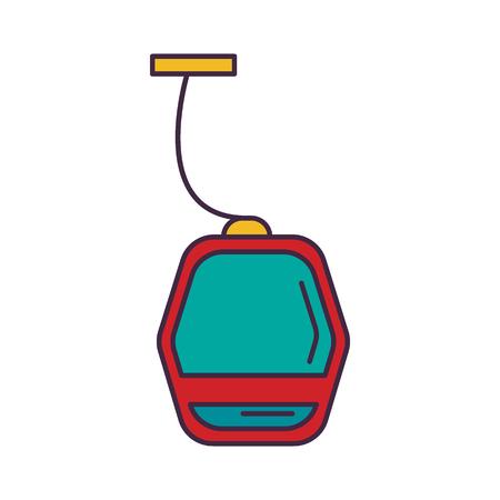 Metro cartoon icon. Vektorové ilustrace