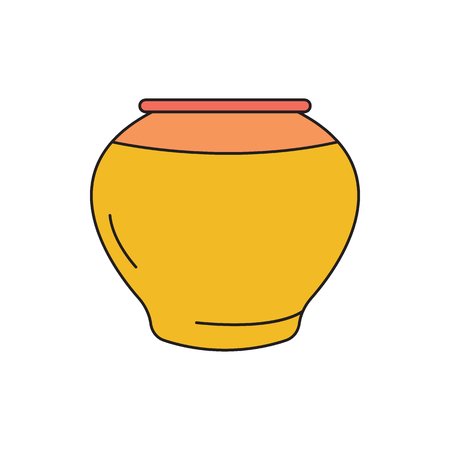 Vase icon. Cartoon vase vector icon for web design isolated on white background