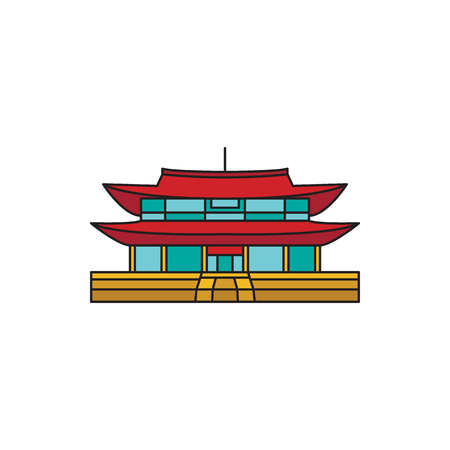 Palace icon. Cartoon palace vector icon for web design isolated on white background Illustration
