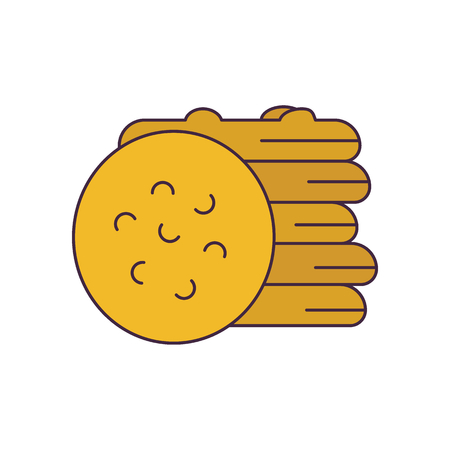 Biscuits icon. Cartoon biscuits vector icon for web design isolated on white background