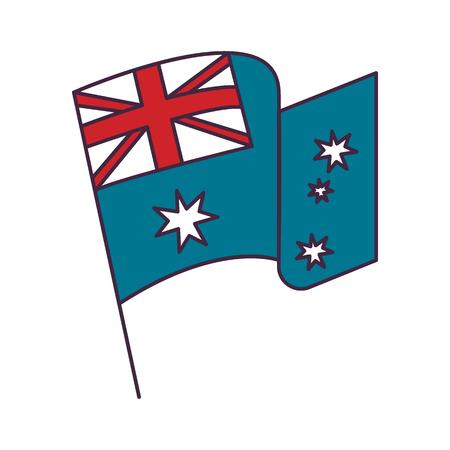 Australia flag icon. Cartoon Australia flag vector icon for web design isolated on white background