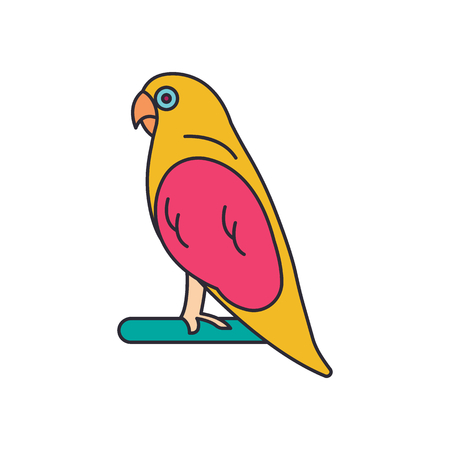 Parrot icon. Cartoon Parrot vector icon for web design isolated on white background
