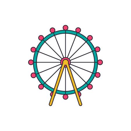 London eye icon. Cartoon london eye vector icon for web design isolated on white background