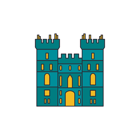 Windsor castle icon. Cartoon windsor castle vector icon for web design isolated on white background
