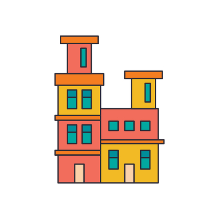 House icon. Cartoon house vector icon for web design isolated on white background