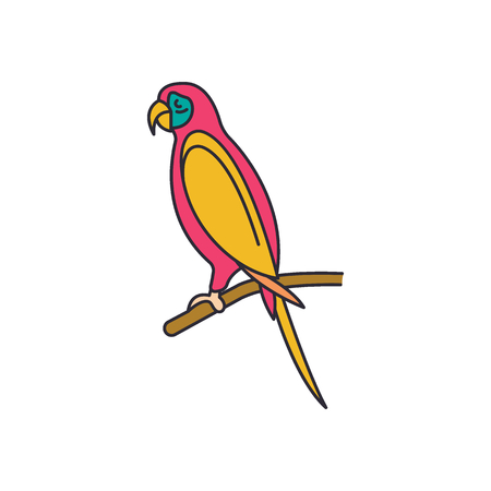Parrot icon. Cartoon parrot vector icon for web design isolated on white background 向量圖像