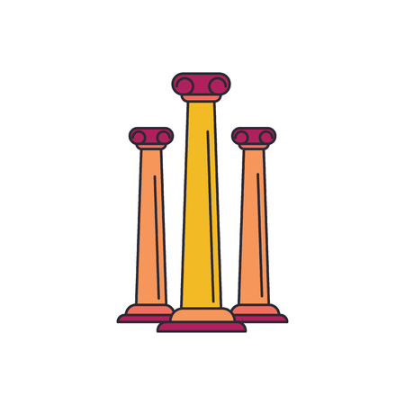 Ancient columns icon. Cartoon ancient columns vector icon for web design isolated on white background