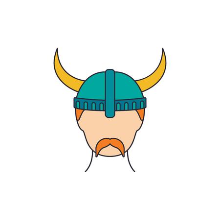 Icona di Berserker. Cartoon berserker icona vettoriali per il web design isolato su sfondo bianco Vettoriali