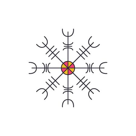 Viking symbol icon. Cartoon viking symbol vector icon for web design isolated on white background