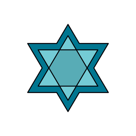 Star of David icon. Cartoon star of David vector icon for web design isolated on white background