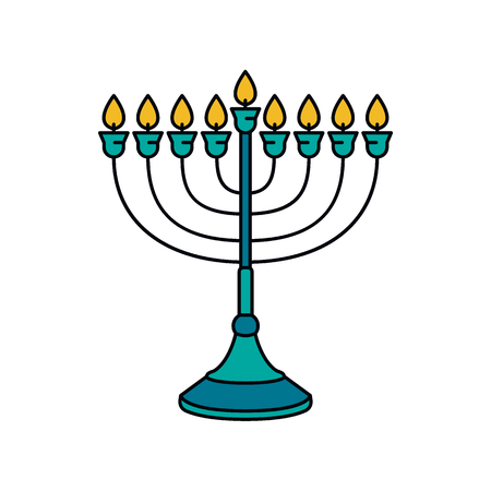 Menorah icon. Cartoon menorah vector icon for web design isolated on white background