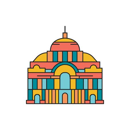 Palace icon. Cartoon palace vector icon for web design isolated on white background Ilustração