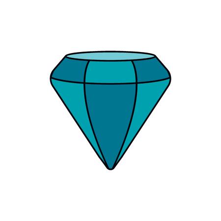 Diamond icon. Cartoon diamond vector icon for web design isolated on white background