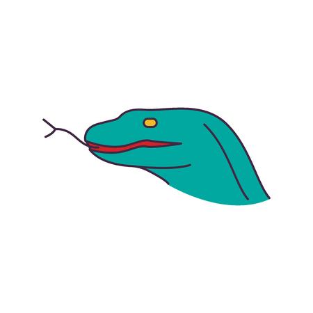 Komodo-Drachen-Symbol. Cartoon-Komodo-Drachen-Vektor-Symbol für Webdesign isoliert auf weißem Hintergrund