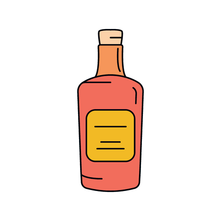Rum icon. Cartoon rum vector icon for web design isolated on white background