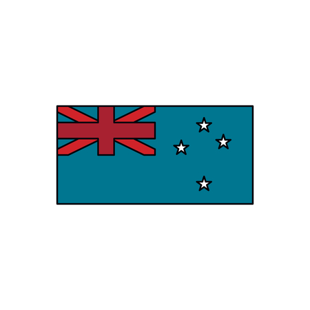 New Zeland flag icon. Cartoon New Zeland flag vector icon for web design isolated on white background Çizim