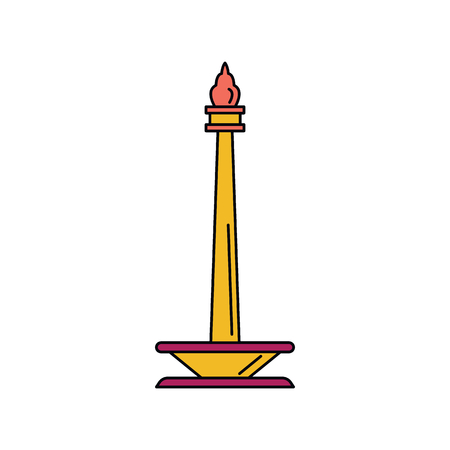 Indonesian monument icon. Cartoon indonesian monument vector icon for web design isolated on white background Illustration