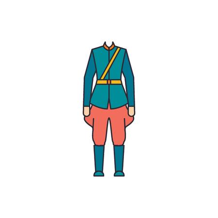 Icône de costume canadien homme. Dessin animé homme costume canadien icône vecteur pour la conception web isolé sur fond blanc Vecteurs