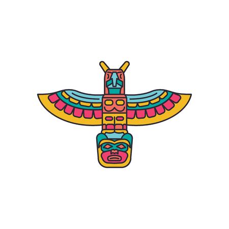 Totem icon. Cartoon totem vector icon for web design isolated on white background