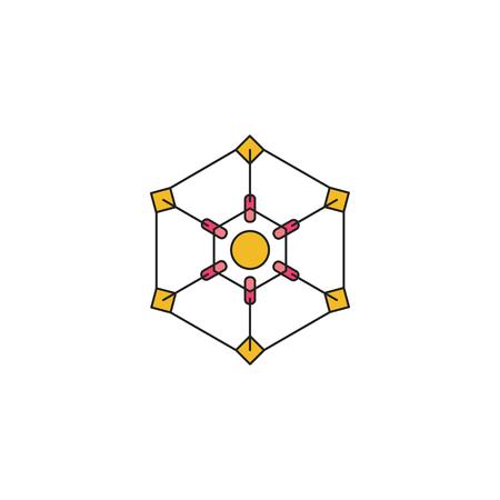 Ipi generation icon. Cartoon Ipi generation vector icon for web design isolated on white background Ilustração