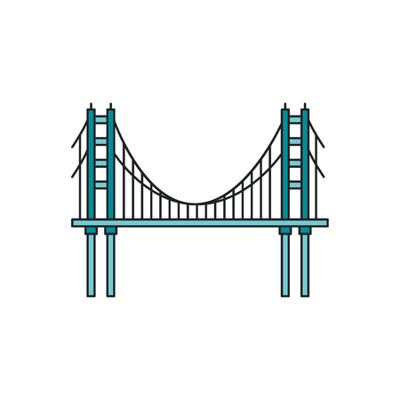 Bridge icon. Cartoon bridge vector icon for web design isolated on white background  イラスト・ベクター素材
