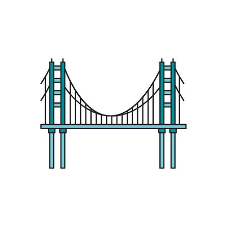 Bridge icon. Cartoon bridge vector icon for web design isolated on white background Illustration