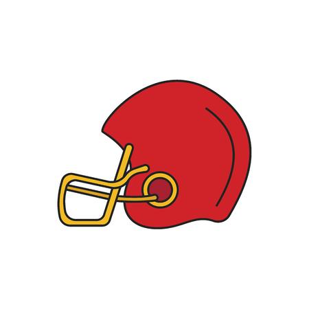 American football helmet icon. Cartoon american football helmet vector icon for web design isolated on white background
