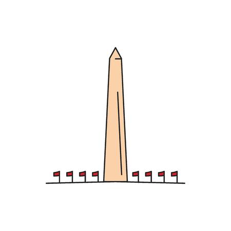 Denkmal-Symbol. Cartoon-Denkmal-Vektor-Symbol für Webdesign isoliert auf weißem Hintergrund
