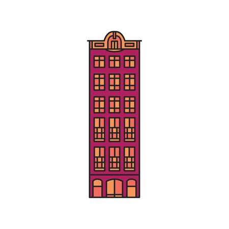 Alte Hausikone. Karikatur-alte Amsterdamer Hausikonenillustrationsvektorillustration für Webdesign lokalisiert auf weißem Hintergrund