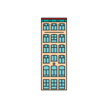 Old house icon. Cartoon Old Stockholm house icon illustration vector illustration for web design isolated on white background Illustration
