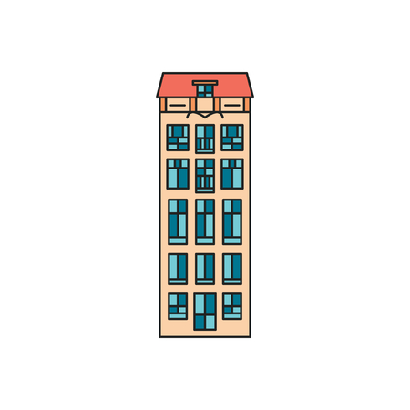 Old house icon. Cartoon Old Scandinavian house icon illustration vector illustration for web design isolated on white background Illustration