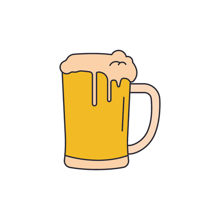 Beer icon. Cartoon Beer vector icon for web design isolated on white background