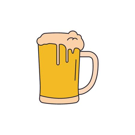 Icono de cerveza. Icono de vector de cerveza de dibujos animados para diseño web aislado sobre fondo blanco