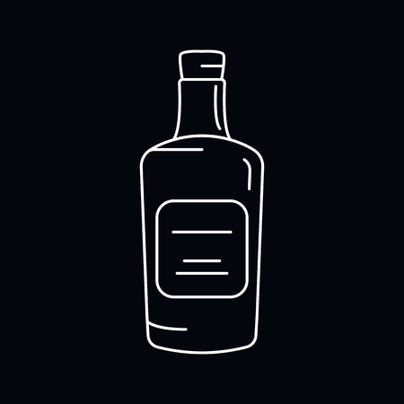Rum icon. Outline illustration of Rum vector icon for web and advertising isolated on black background. Element of culture and traditions