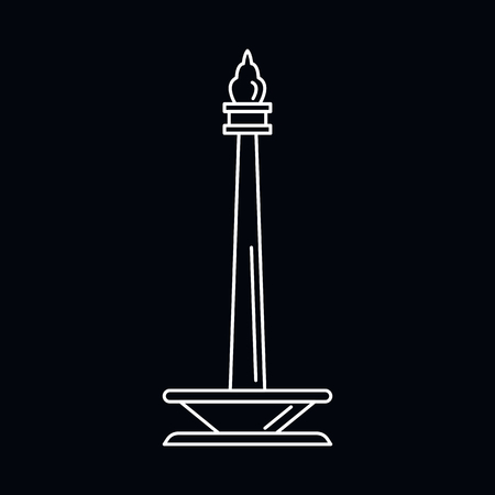 Monument icon. Outline illustration of Monument vector icon for web and advertising isolated on black background. Element of culture and traditions