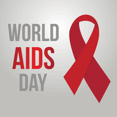 World aids day vector background. Hiv day red ribbon vector medicine backdrop for medicine design