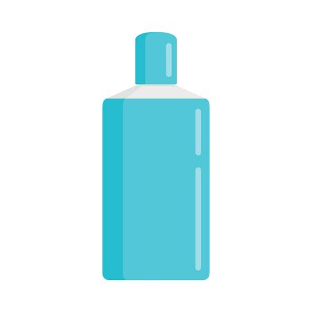 Shampoo bottle flat icon. Vector Shampoo bottle in flat style isolated on white background. Element for web, game and advertising 向量圖像