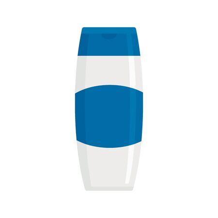 シャンプーフラットアイコン。白い背景に分離されたフラットスタイルのベクターシャンプー。ウェブ、ゲーム、広告の要素  イラスト・ベクター素材