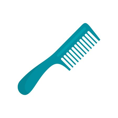 Hairbrush flat icon. Vector hairbrush in flat style isolated on white background. Element for web, game and advertising 向量圖像
