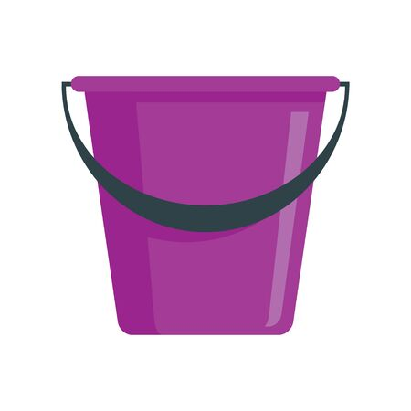 lilac bucket flat icon. Vector lilac bucket in flat style isolated on white background. Element for web, game and advertising 版權商用圖片 - 132686747