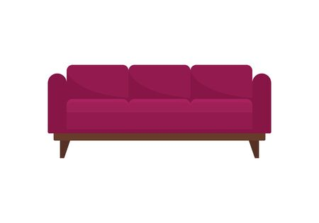 Luxury modern sofa flat icon. Vector Luxury modern sofa in flat style isolated on white background. Element for web, game and advertising 版權商用圖片 - 132816751
