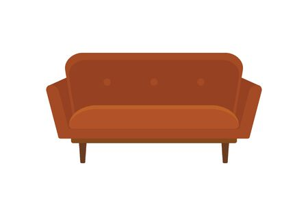 Office sofa flat icon. Vector Office sofa in flat style isolated on white background. Element for web, game and advertising 版權商用圖片 - 132809633