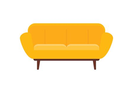 Modern interior sofa flat icon. Vector Modern interior sofa in flat style isolated on white background. Element for web, game and advertising 版權商用圖片 - 132812600